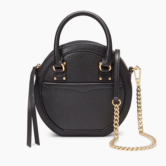 58c91ffabf NWT Rebecca Minkoff Bree Circle Bag Black Leather
